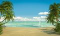 idyllic caribean beach view copy space - PhotoDune Item for Sale