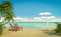 idyllic caribean beach view - PhotoDune Item for Sale