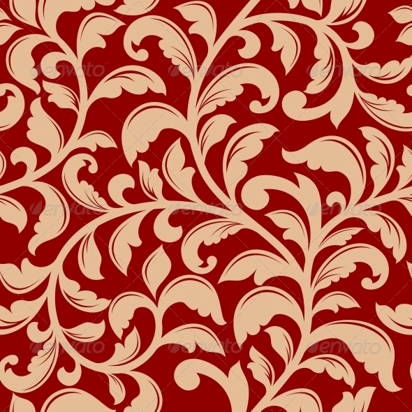 GraphicRiver Seamless Pattern with Decorative Flourishes 5324921