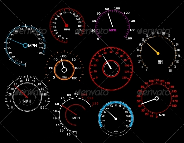 GraphicRiver Speedometers Set 5324937