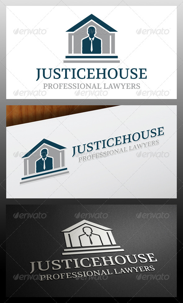 GraphicRiver Justice House Logo Template 5325053