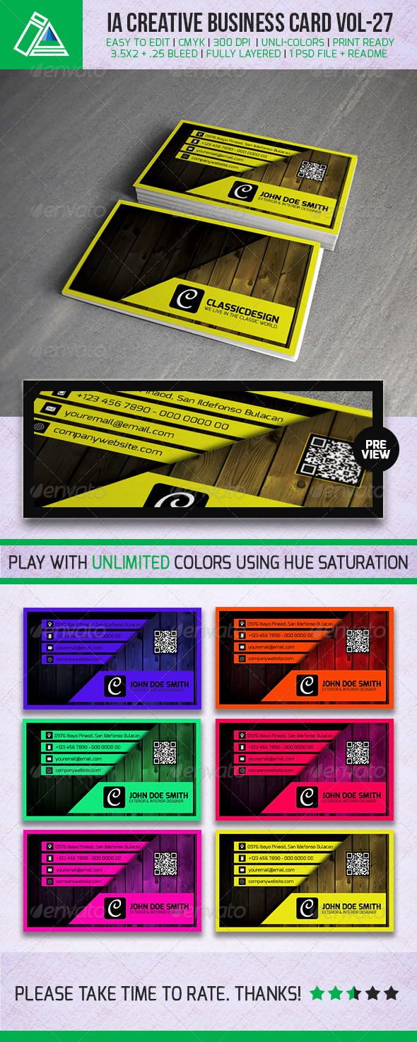 IntenseArtisan Business Card VOL.27 - Creative Business Cards
