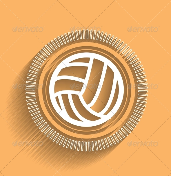 GraphicRiver Modern Volleyball Icon 5325462