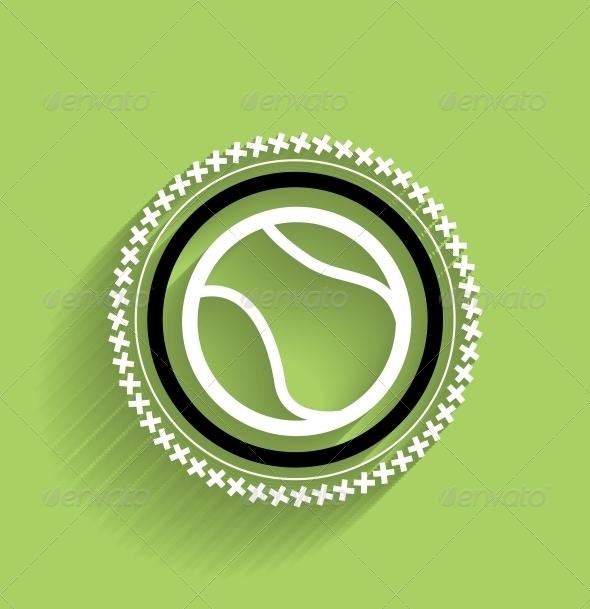 GraphicRiver Modern Tennis Ball Icon 5325476