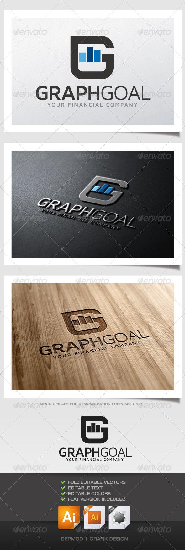 GraphicRiver Graph Goal Logo 5325841