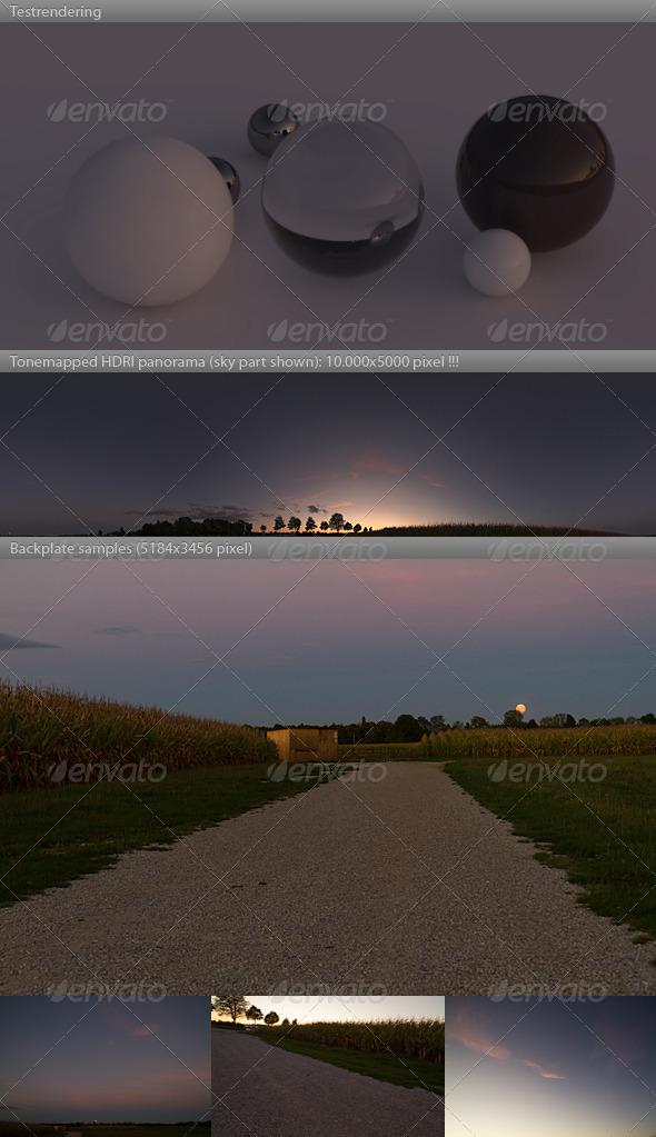 3DOcean HDRI spherical sky panorama 1944- sunset 548577
