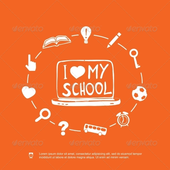 GraphicRiver I Love my School 5326011