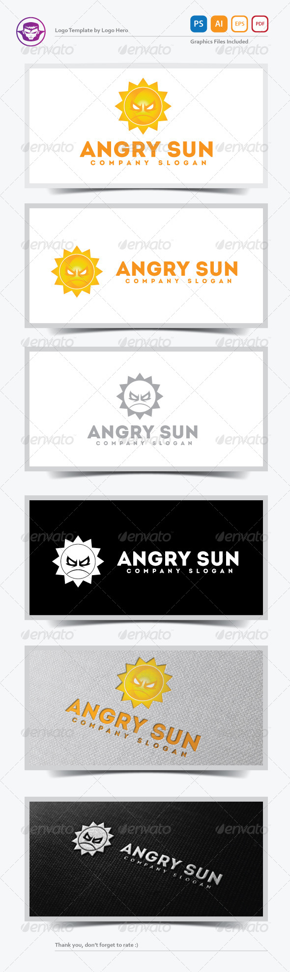 GraphicRiver Angry Sun Logo Template 5326108