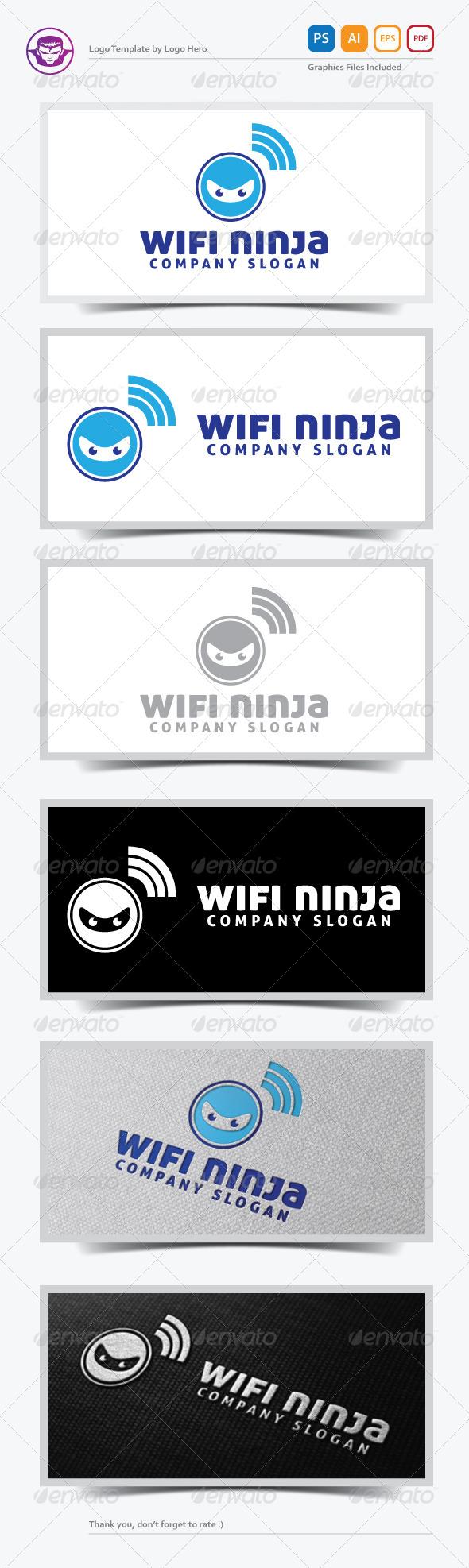 WiFi Ninja Logo Template
