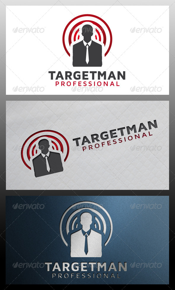 GraphicRiver Target Man Logo Template 5326322