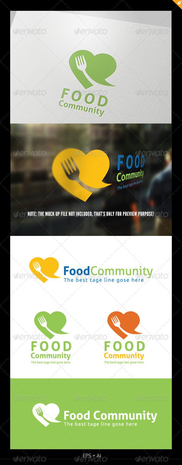 GraphicRiver Food Community Logo 5326780