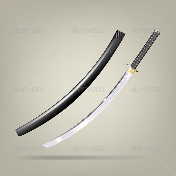 GraphicRiver Japanese Sword 5326893