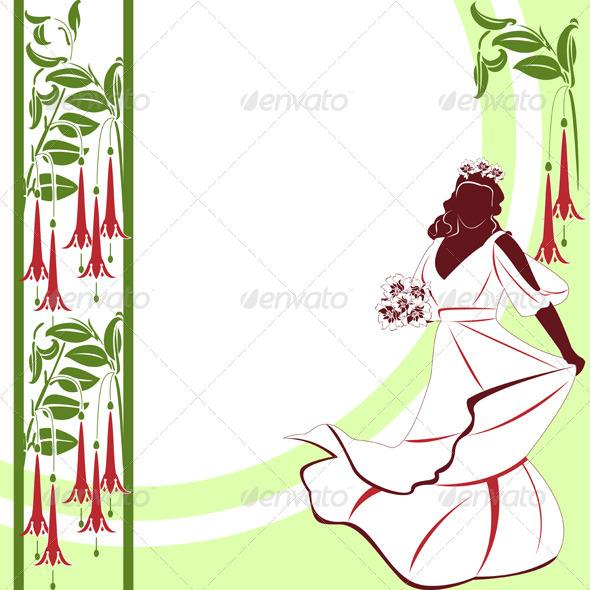 GraphicRiver Wedding Card with Bride 5326964
