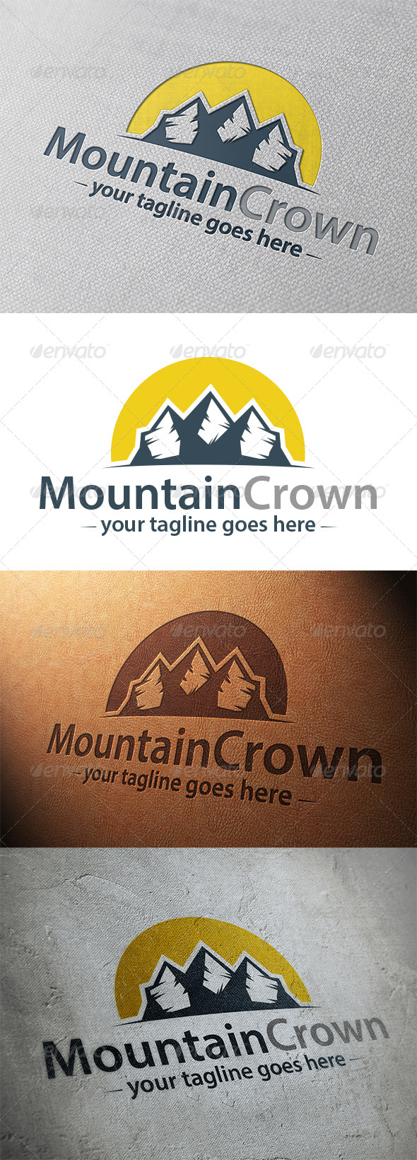 GraphicRiver Mountain King Logo Template 5326978