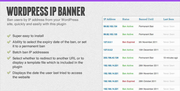 WordPress IP Banner - WordPress Plugin
