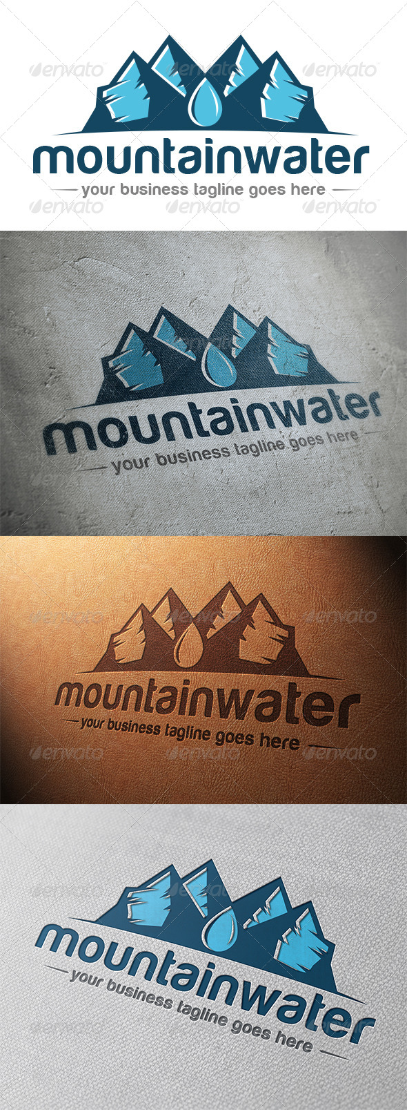 GraphicRiver Mountain Water Logo Template 5327107