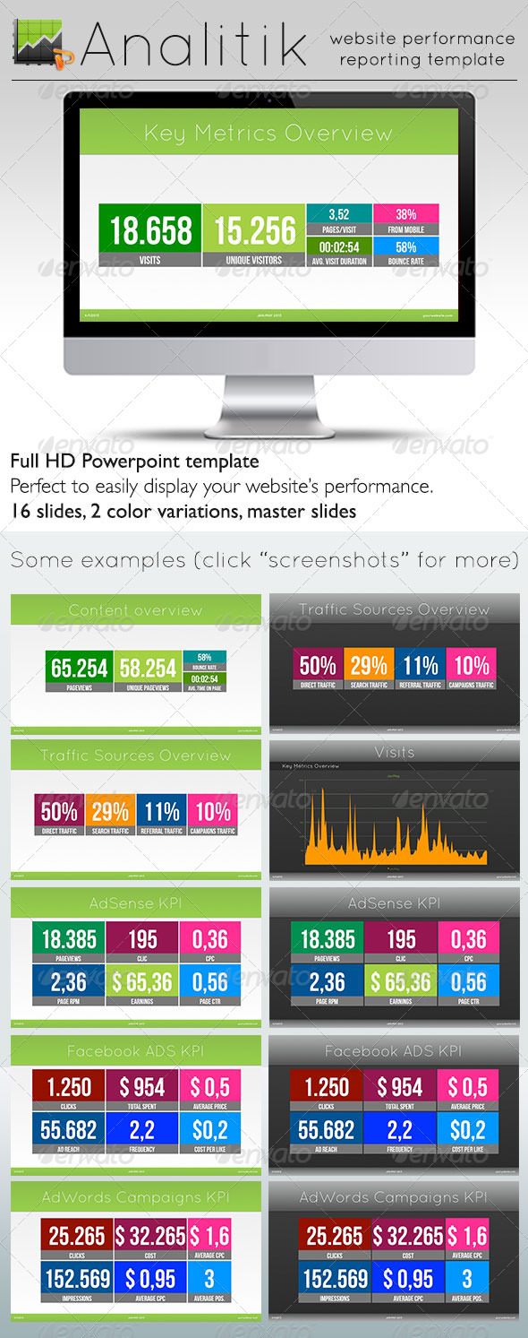 GraphicRiver Analitik Website Performance Powerpoint Template 5327620