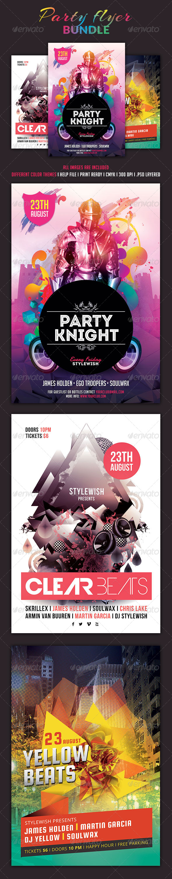 Party Flyer Bundle Vol.2 - Clubs & Parties Events