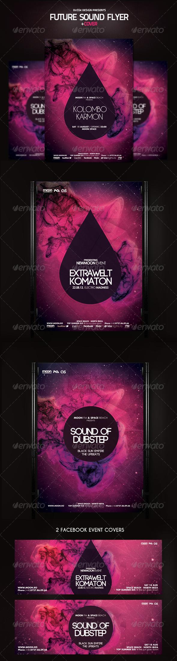 GraphicRiver Future Sound Flyer and Cover 5328097