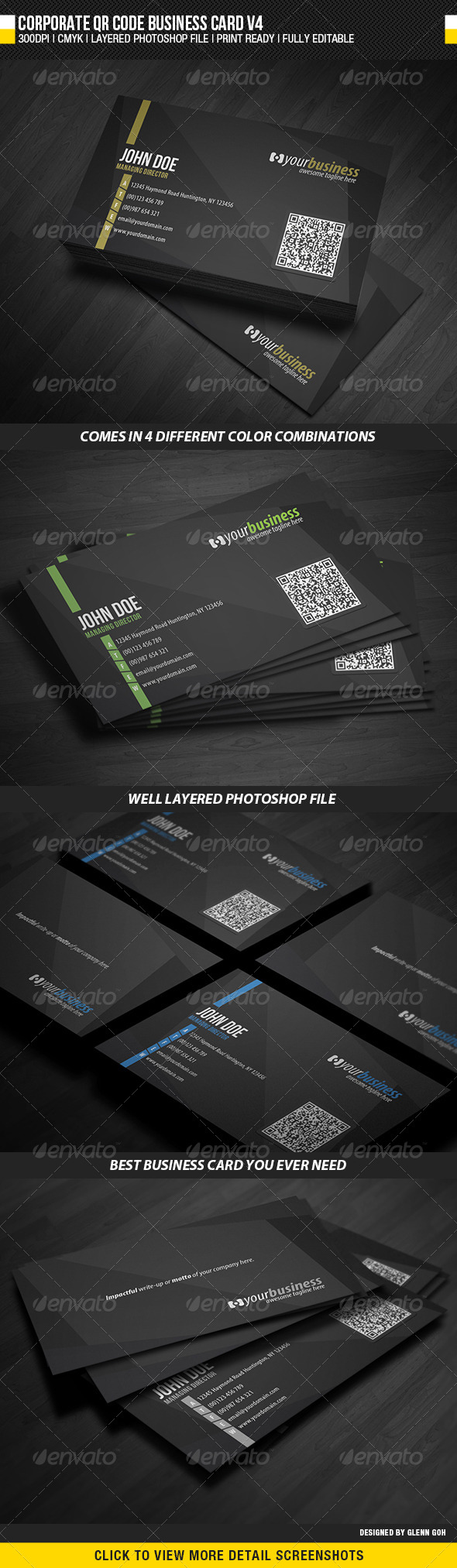 GraphicRiver Corporate QR Code Business Card V4 5328174