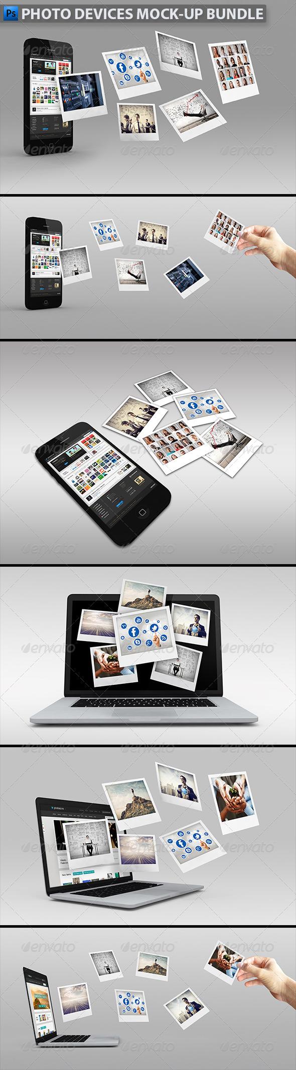 GraphicRiver Photo Devices Mock-up Bundle 5328350