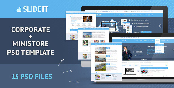 ThemeForest Slideit Corporate & miniStore PSD Template 5328860