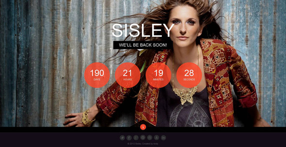 Sisley - Responsive Coming Soon Template - Under Construction Specialty Pages