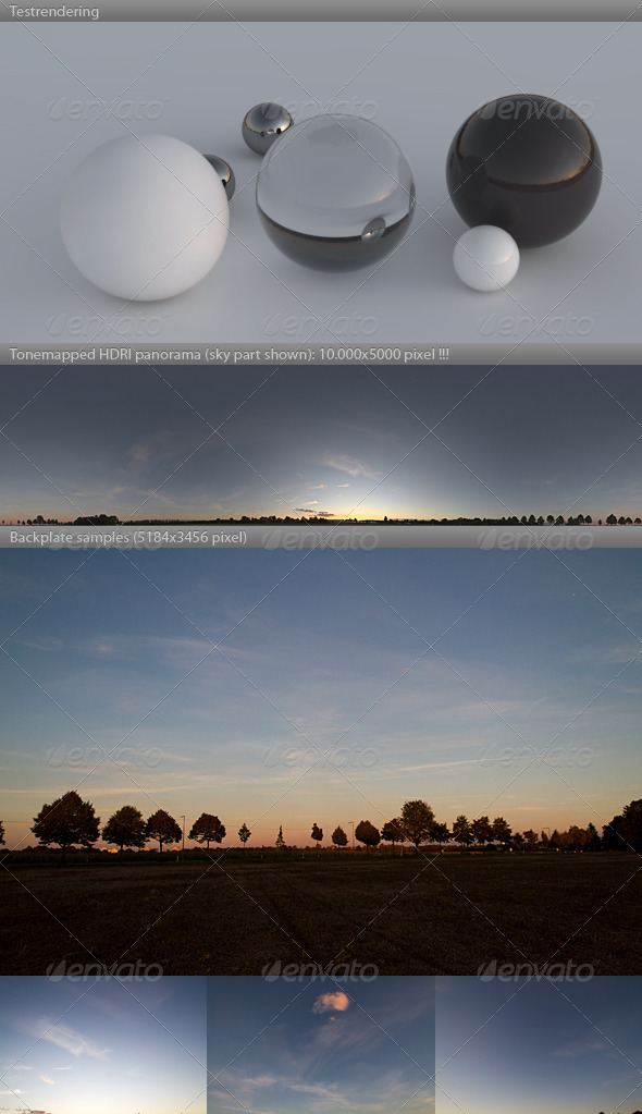 3DOcean HDRI spherical sky panorama 1916- sommer dusk 548620