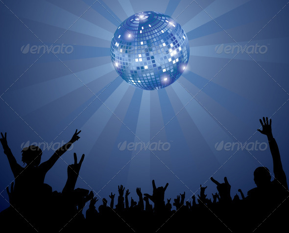 GraphicRiver Night Club Crowd 5329063