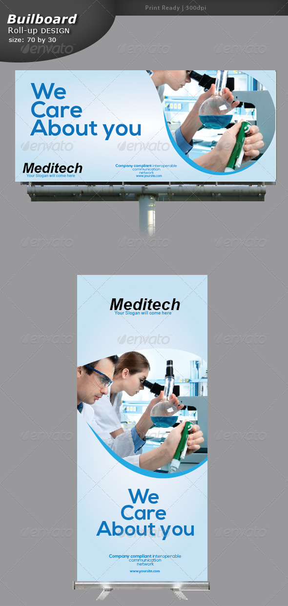 GraphicRiver Medical Billboard and Roll-up Banner 5329083
