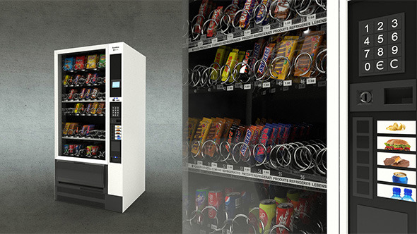Snack Vending Machine - 3DOcean Item for Sale
