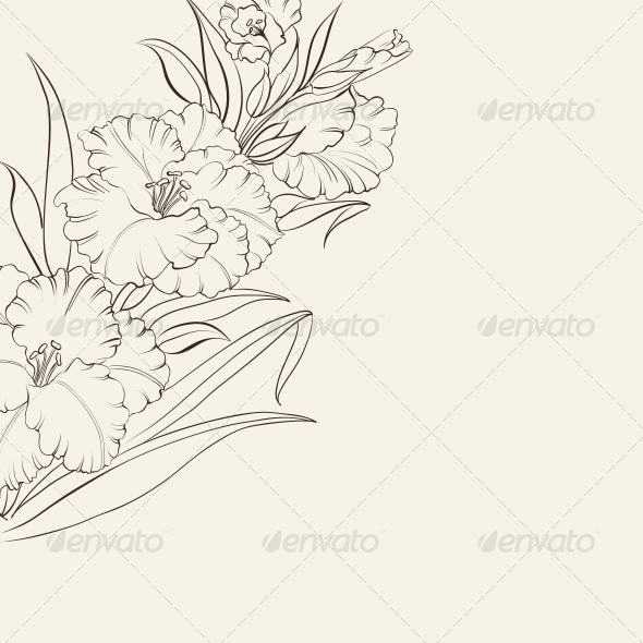 GraphicRiver Fresh Iris Flowers 5329436