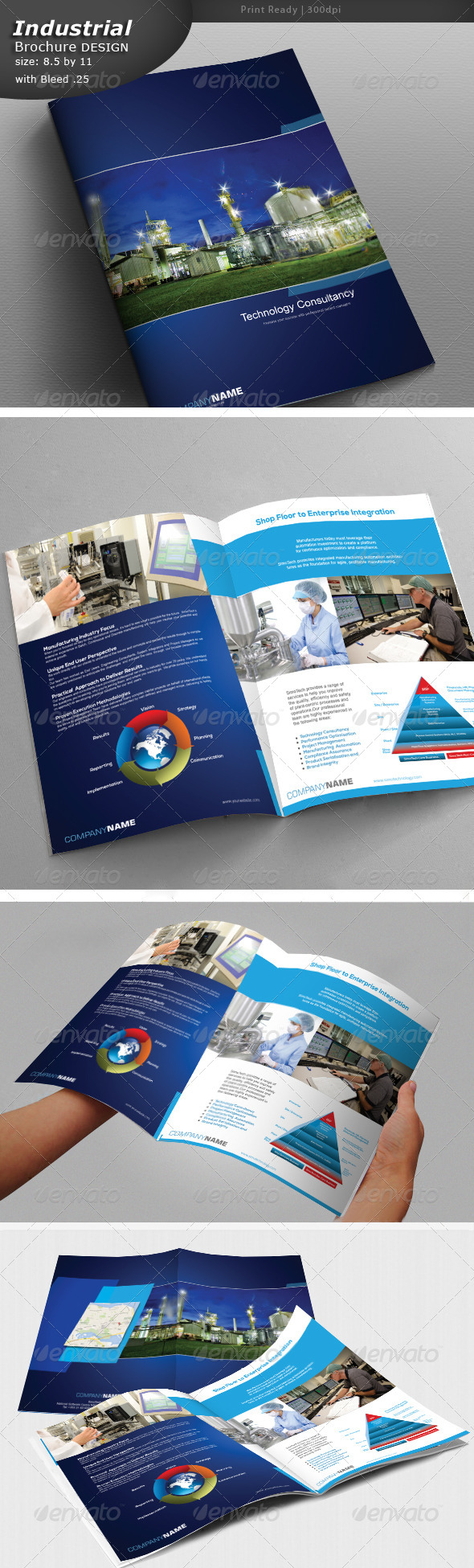 GraphicRiver Industrial Brochure Design 5329443