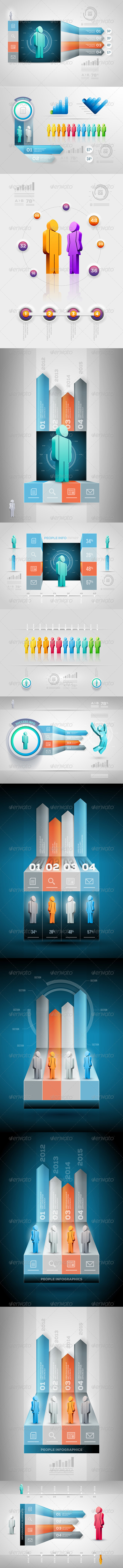 GraphicRiver People Infographics 5329631