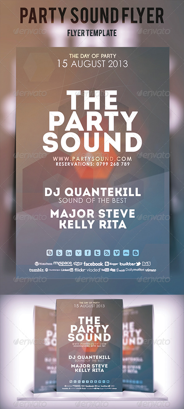 GraphicRiver Party Sound Flyer 5329921
