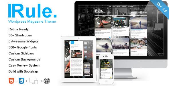 ThemeForest Rule Retina Responsive WordPress Theme 5330010