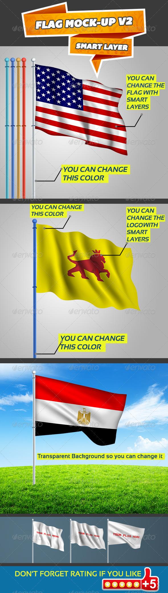 GraphicRiver Flag Mock-up V2 5330033