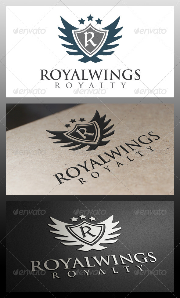 GraphicRiver Royal Wings Crest Logo Template 5330098
