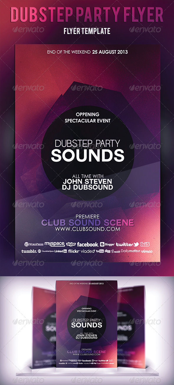 GraphicRiver Dubstep Party Flyer 5330102