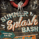 Summer Splash Bash Vintage Flyer - GraphicRiver Item for Sale