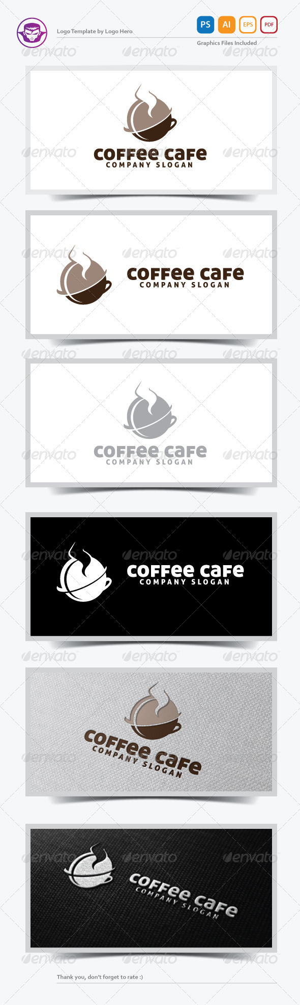 GraphicRiver Coffee Cafe Logo Template 5330140