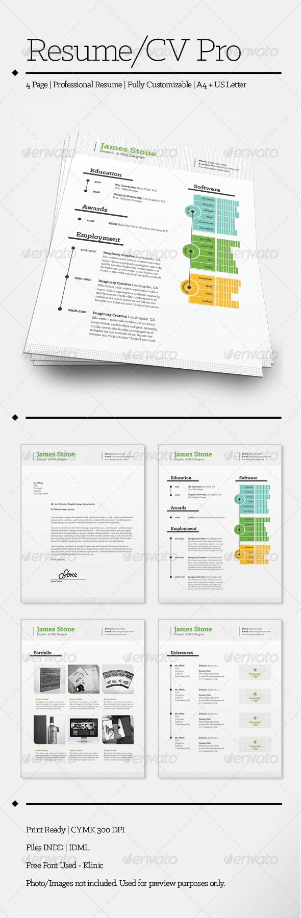 GraphicRiver Resume CV Pro 5277594