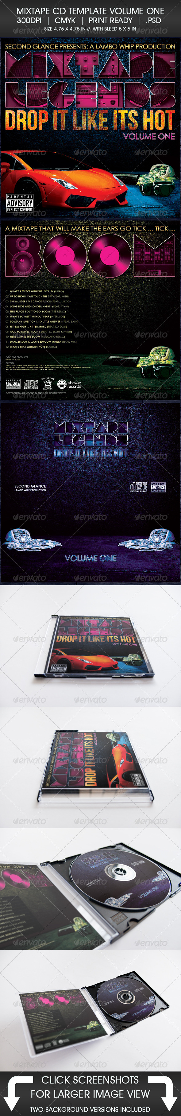 GraphicRiver Mixtape CD Template Volume One 5330188