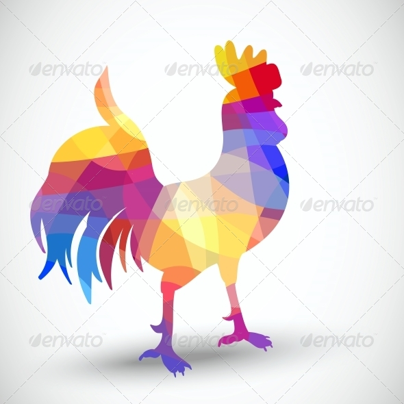 GraphicRiver Abstract Rooster of Geometric Shapes 5330189