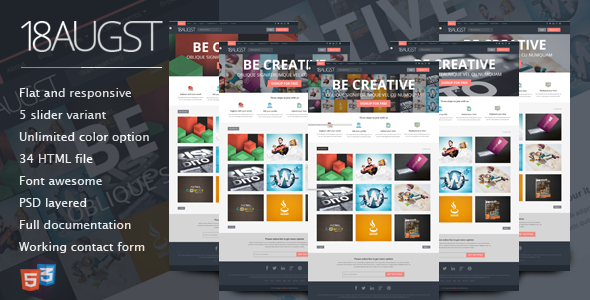 ThemeForest 18augst flat and responsive portfolio gallery 5330325