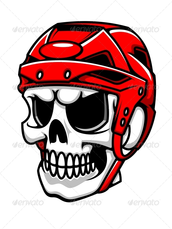 GraphicRiver Skull in Hockey Helmet 5330330