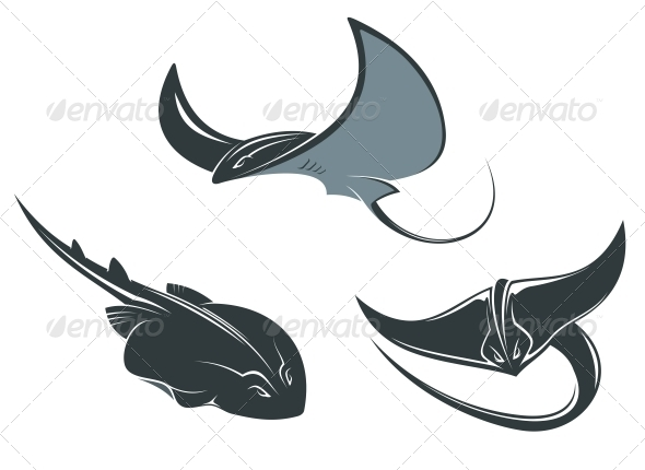 Stingray Mascots - Animals Characters