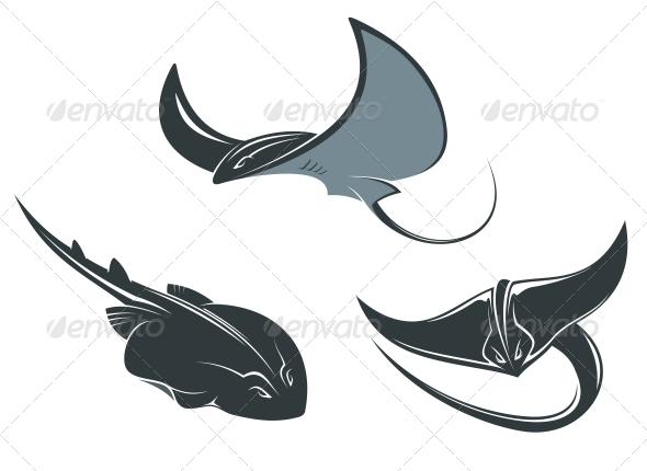 GraphicRiver Stingray Mascots 5330353