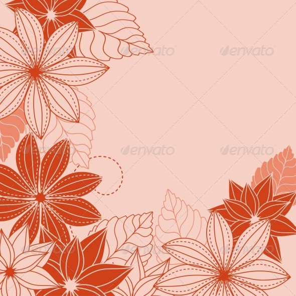 GraphicRiver Abstract Floral Background 5330393
