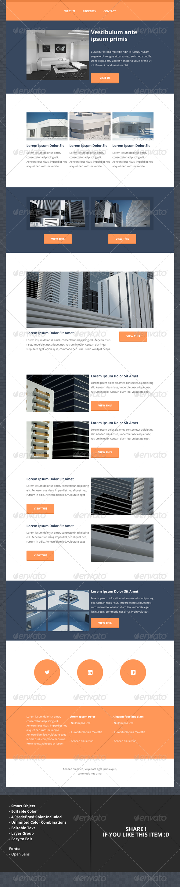 GraphicRiver Prop Flat Style Newsletter Layout 5330849